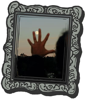 hand moon picture frame